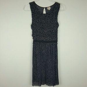 Anthropologie | Postmark Blue & Cream Dot Dress Sm